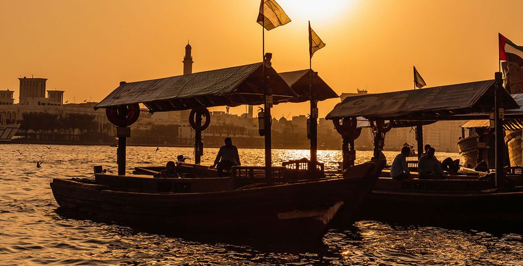 Follow it with a dinner cruise aboard one of the hotel's traditional Arabic dhow boats
