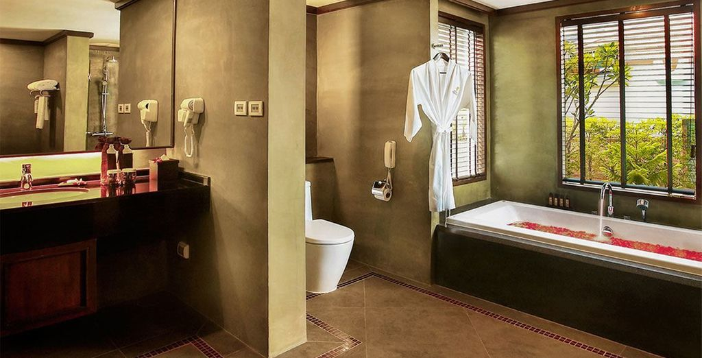 Complete with spacious luxury bathroom