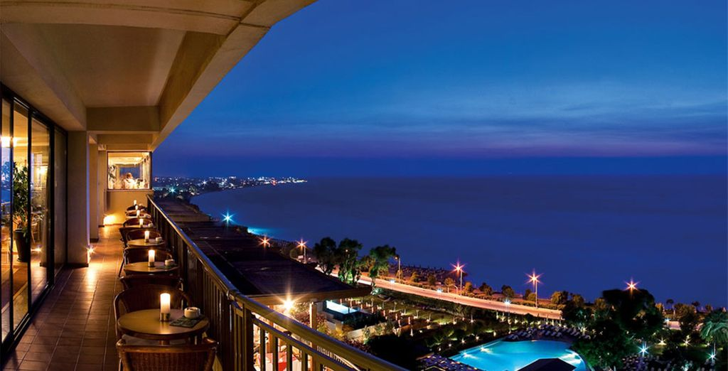 End you day by dining with stunning sea views