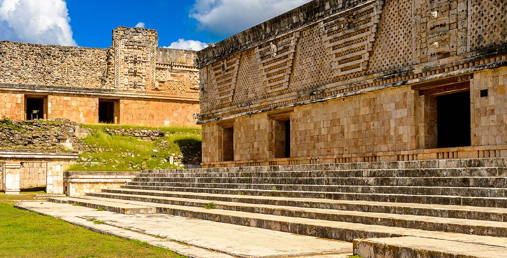 Before enjoying guided tours of Uxmal's ancient Mayan  remains...