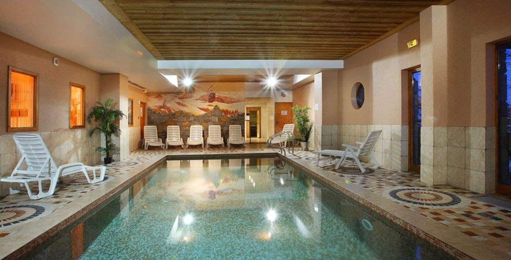 After a day on the slopes, retreat to the heated indoor pool