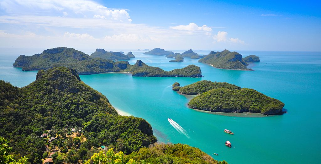 Or island hop in nearby Ang Thong Marine Park
