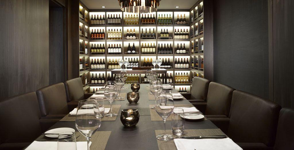 And dinner at the elegant restaurant