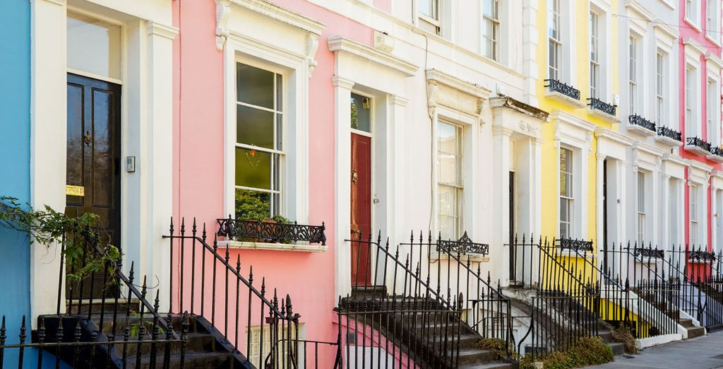Wander past the colourful facades of Notting Hill