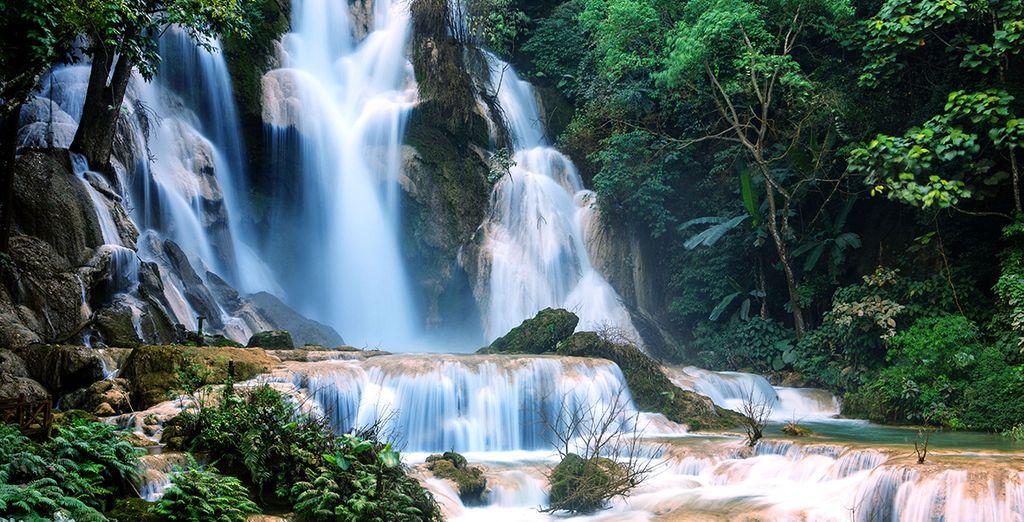 And magical Kuangsi Waterfall