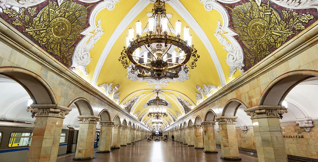 You may also choose to add private tours of the amazing Moscow Metro