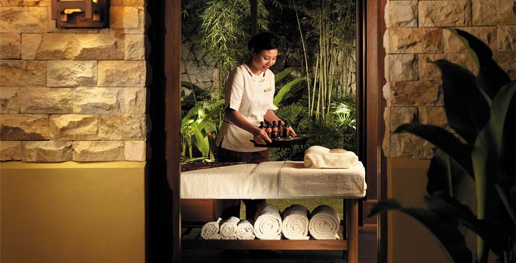Indulge your body at the spa