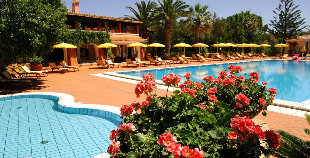 Or cool off from the hot Sardinian sun with a dip in the pool