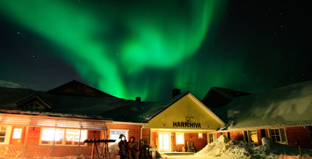 Staying in the warm & homely Harriniva Wilderness Lodge