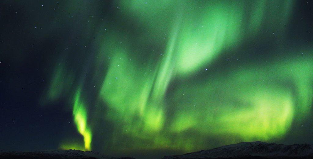 To the majestic Aurora Borealis that dance in the sky
