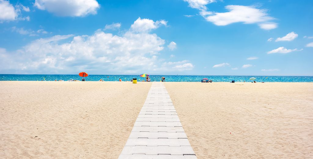 Or head to the beach, just 1.5 km away