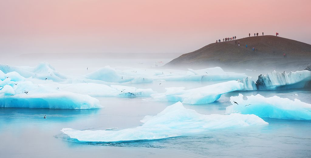 The ethereal blue light of the glacier lagoon