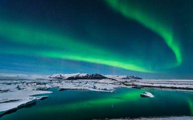 Circuit aurores boréales et hôtel Island Reykjavik