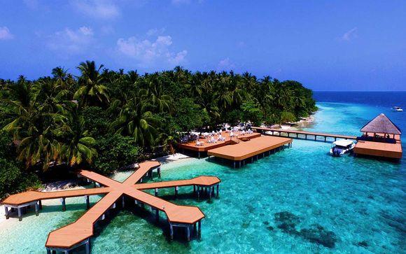 Uw strandverlenging in het Fihalhohi Island Resort 4*