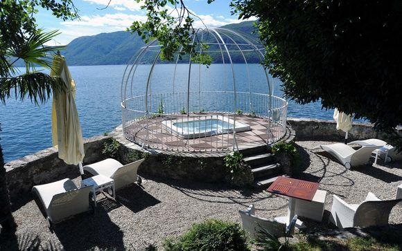 Hotel camin colmegna a terrace on the shores of lake maggiore