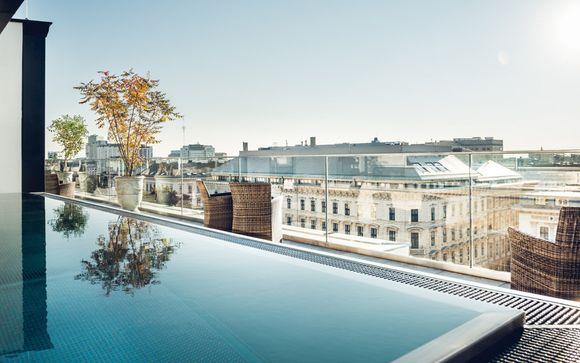 Wunderschönes Hotel mit Pool auf der Dachterrasse