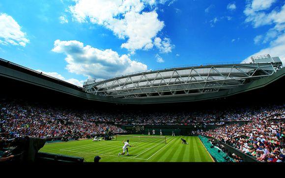 Elegante estancia con entradas para el campeonato de tenis