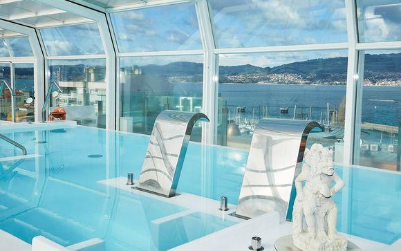 Spa, tratamientos, media pensión y opción en barco a Islas Cíes