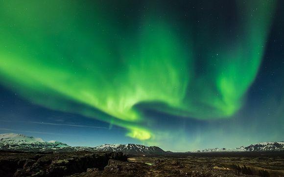 Auroras boreales y preciosos paisajes