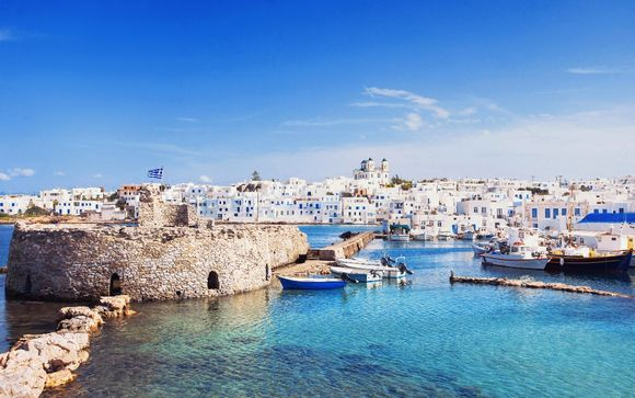 Itinerario Santorini - Paros - Mykonos de 8 o 13 noches (opción 2)
