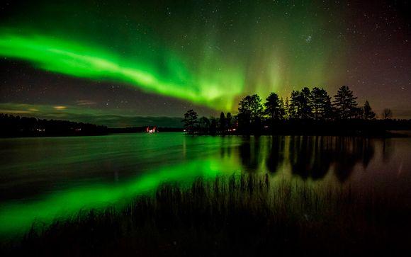 Auroras boreales en la frontera rusa