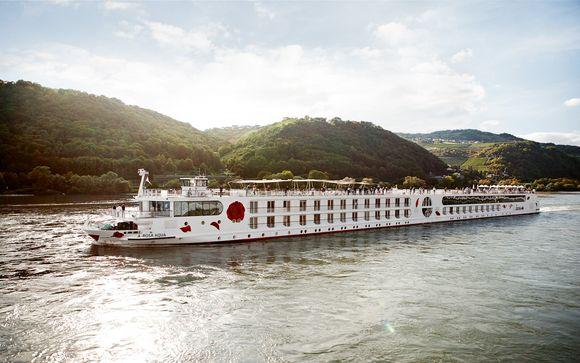 Precioso recorrido en crucero fluvial con vuelos