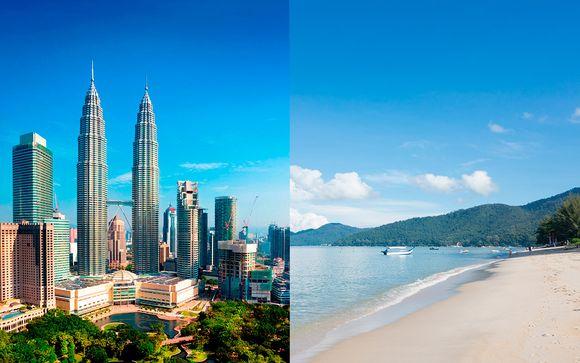 Combinado en la capital con playas de arena blanca y vuelos
