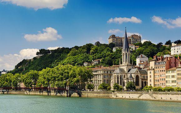 Photographie de Lyon et de la Saône, quartier de Saint Jean