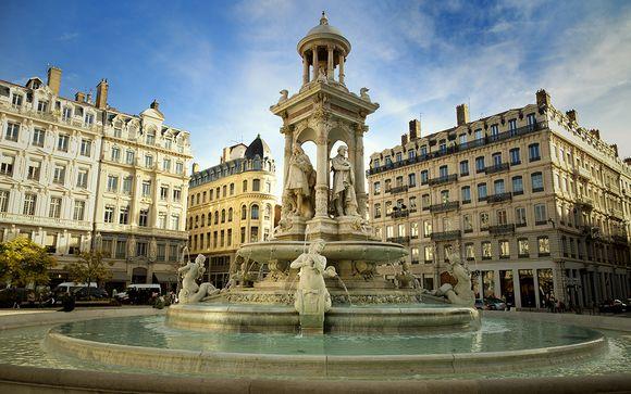 Fontaines et architectures de la ville de Lyon