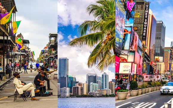 Combiné 4* à la Nouvelle Orléans, Miami et New-York