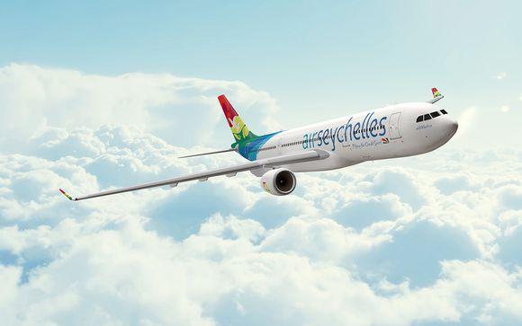 Offrez-vous le confort d'un vol direct de Paris à Mahé avec Air Seychelles