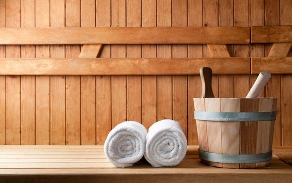 Faites une pause détente grâce à la privatisation du sauna pendant 1 heure...