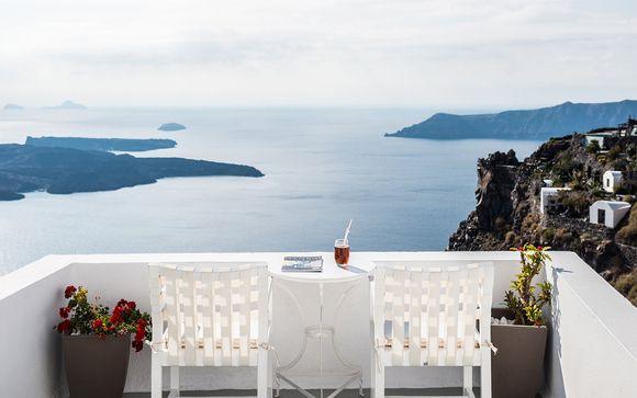 Poussez les portes de l'hôtel On the Rocks à Santorin