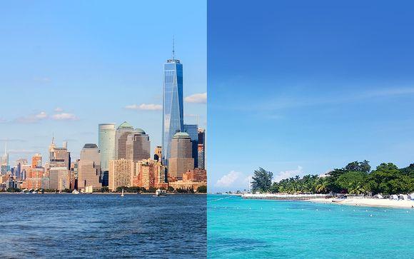 Séjour contrasté entre buildings et sable blanc