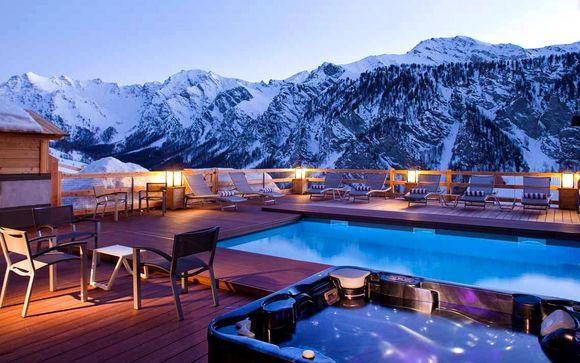 Spa et piscine chauffée au sommet