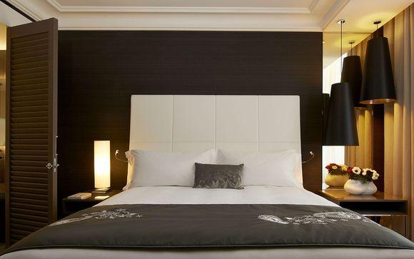Détendez-vous dans votre chambre Executive Vue Jardin ou Panier...
