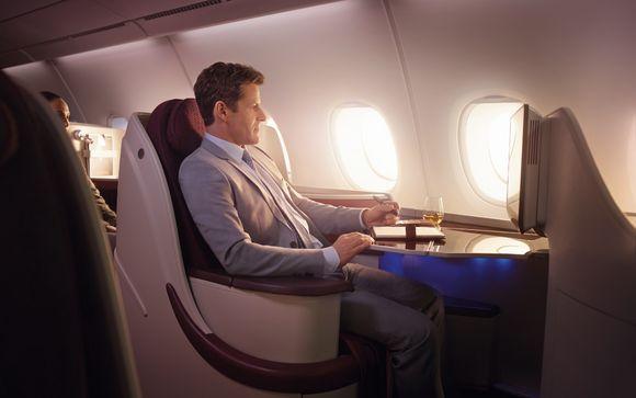 La compagnie Qatar Airways en Classe Affaires