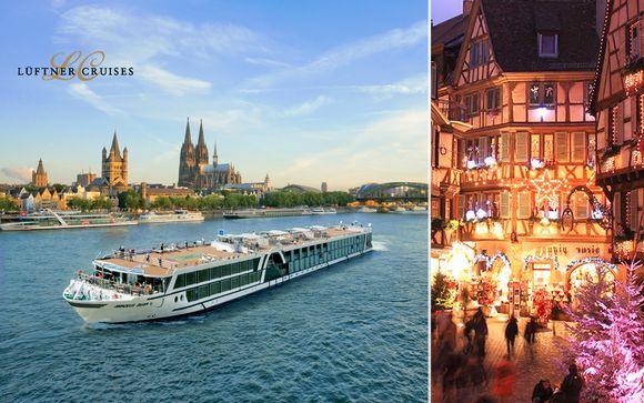 Mercatini ed atmosfere natalizie in crociera sul Reno e sul Danubio