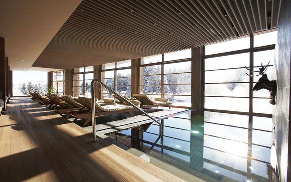 Boutique hotel 4* sulle piste da sci di fondo con SPA panoramica