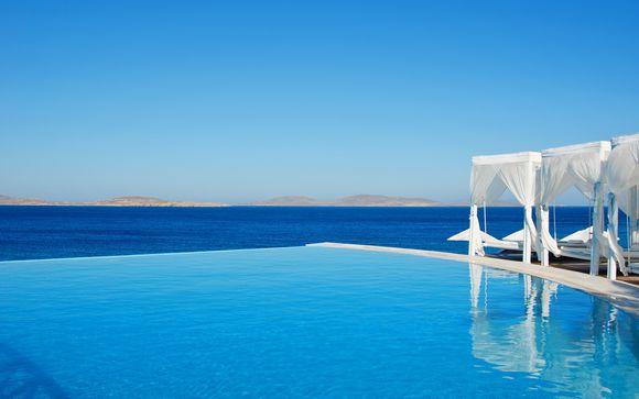 5* panoramico sull'incantevole Mar Egeo di Mykonos