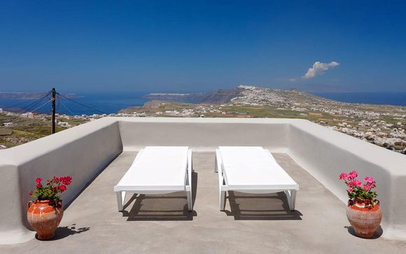 Suite con panorama da sogno sul Mar Egeo