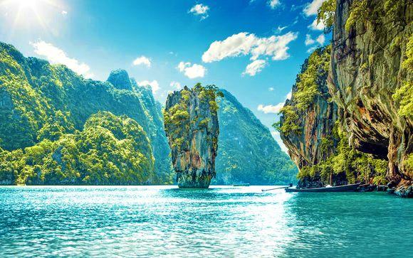 Spiagge e paesaggi indimenticabili della Thailandia in hotel 4*