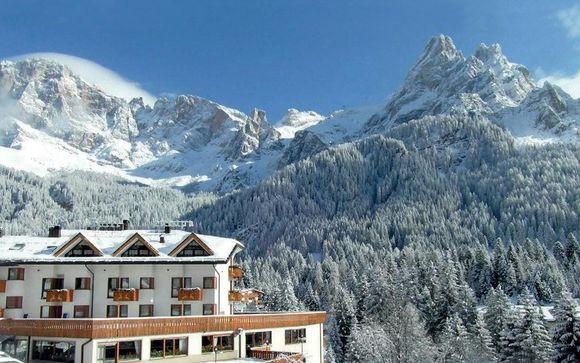 Confortevole hotel con vista sulle Pale di San Martino