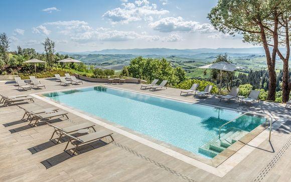 Elegante 5* con spa tra le colline toscane