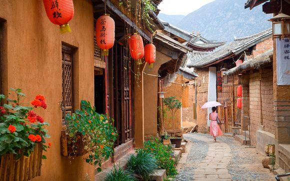 Vicolo pittoresco in Cina