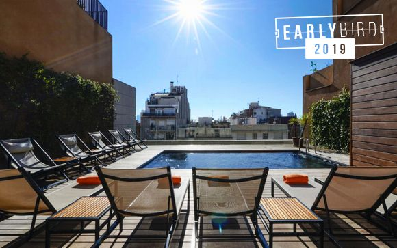 Rooftop Pool in Eixample District