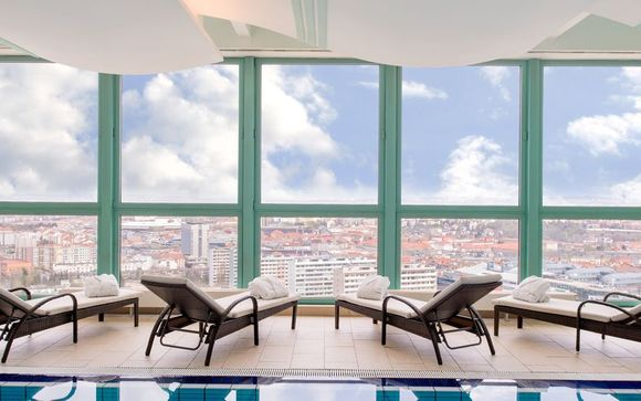 Panoramic City Views from Top Floor Spa