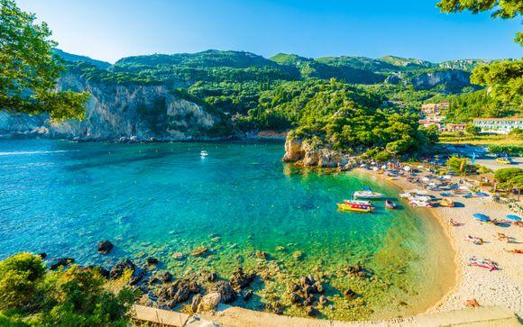 Hotel 4* nella zona più conosciuta di Corfù con piscine d'acqua dolce e spiagge vicine