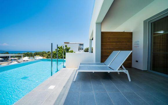 Piccolo resort di lusso con vista panoramica sull'Egeo
