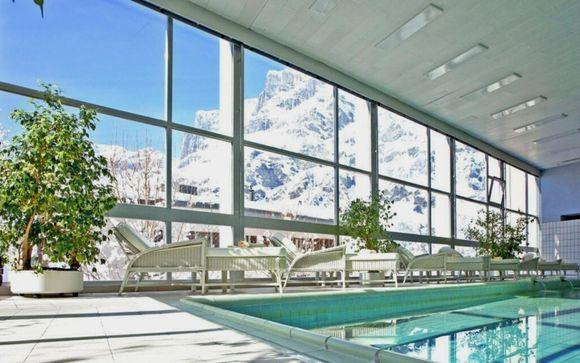 Hotel di lusso con accesso all SPA tra le Alpi Svizzere